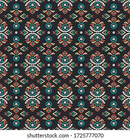 Seamless vector pattern in ethnic style. Tribal aztec ornament. Decorative background for printing on paper or textile. Boho design.