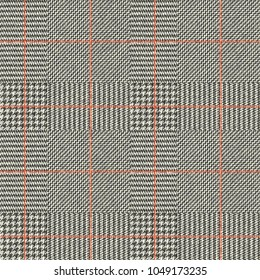Seamless vector pattern. Fabric texture with Classic Glen Plaid pattern. Vector image.