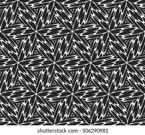 seamless vector pattern. floral ornament. interior decoration, wallpaper, presentation, fashion design. black and white color