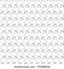 Seamless vector pattern in geometric lines style