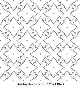 Seamless vector pattern in geometric ornamental style
