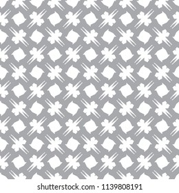 Seamless vector pattern in geometric ornamental style