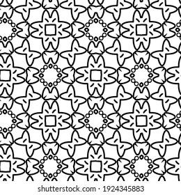 Seamless vector pattern in geometric ornamental style.