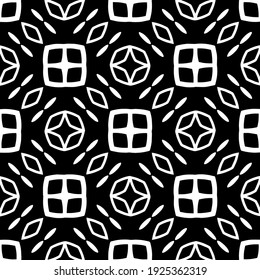 Seamless vector pattern in geometric ornamental style.