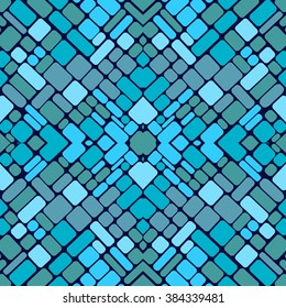 seamless vector pattern with geometric shapes squares. in a mosaic style tiles