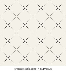 Seamless vector pattern geometric tiles with dotted squares