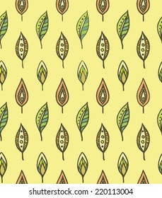 Seamless vector pattern for gold autumn.