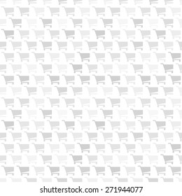 Seamless vector pattern. Gray and white texture with shopping cart icon pattern