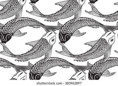 Peces Blanco Y Negro Stock Vectors Images Vector Art Shutterstock