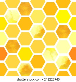 Seamless vector pattern with honeycomb