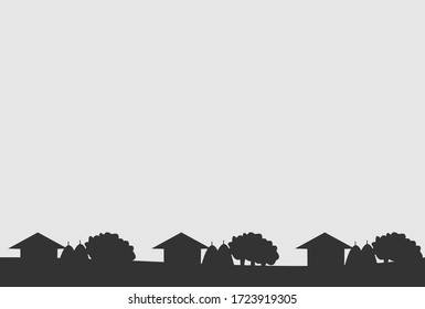 Seamless vector pattern with house symbol on gray background, can be used as background, web pattern or for just related design.