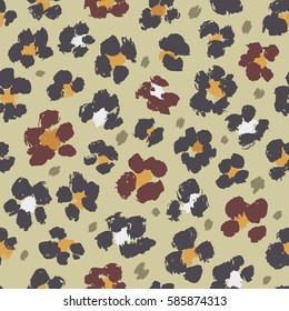 Seamless vector pattern with leopard skin print