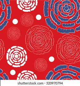 Seamless  vector pattern  on red background can be used for wallpaper, pattern fills, web page background, surface textures. Fashion seamless backgrounds