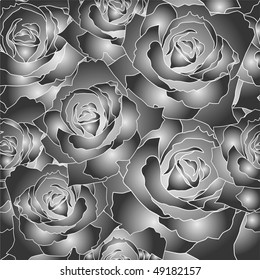 Seamless vector pattern of the roses