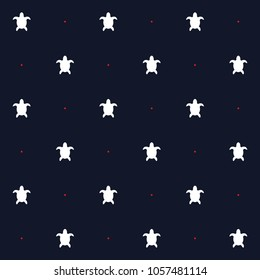 Seamless vector pattern sea life motif turtles in blue background
