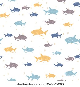 Seamless vector pattern - Shark