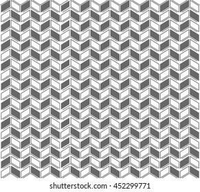 Seamless vector pattern with simple repetitive geometric shapes