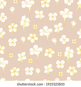 seamless vector pattern small flowers