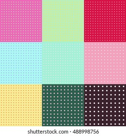 Seamless vector pattern or texture with polka dots background for design and print.