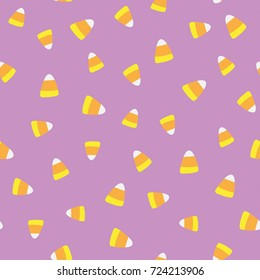 Seamless vector pattern tile of halloween candy corn