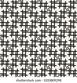 Seamless vector pattern in traditional Japanese style. Lattice and rhombus. Vector color background.