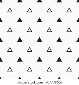 Seamless vector pattern with triangles