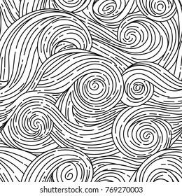 Seamless vector pattern. Van Gogh style