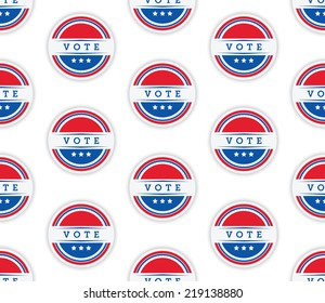 A seamless vector pattern of a vote sticker