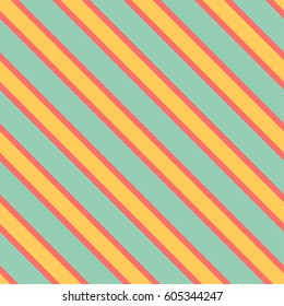 Seamless vector pattern with yellow diagonal stripes
