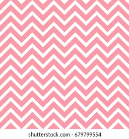 Seamless vector pattern with zigzag in pink color