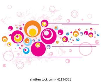 seamless vector retro pattern of circles