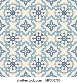 Seamless vector retro pattern. Tiled oriental background.