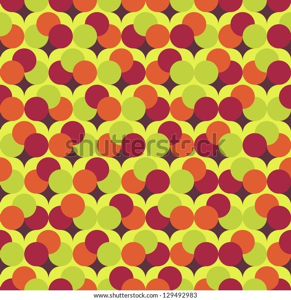 Seamless vector round background pattern