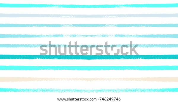 Seamless Vector Sailor Stripes Summer Pattern. Hand Painted Ink Lines. Funky Female Autumn Paintbrush Stripes Background. Fashion Textile Fabric Seamless Pattern. Trendy Funky Stripy Grunge Graffiti.