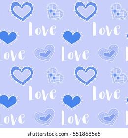 Seamless Vector Saint Valentine Hearts Pattern