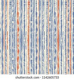 Seamless vector shibori tie-dye pattern of blue and red colours on white. Hand painting fabrics - nodular batik. Shibori dyeing for fabric, textile, ceramic