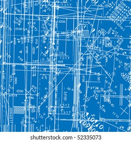 seamless vector simulating engineering blueprint. Filled with solid colors only.