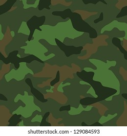 Seamless vector square camouflage series in the forrest scheme