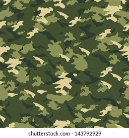 Seamless vector square camouflage series in scheme - Green