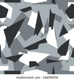 Seamless vector square camouflage series - Alpine
