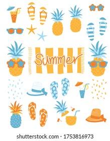 seamless vector summer image pineapple
