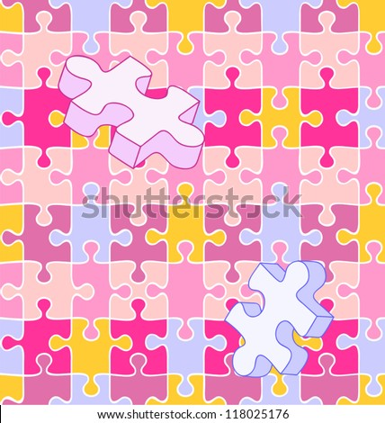 Seamless Vector Swatch Of Colorful Wall To Puzzle Pieces Align Perfectly For Wallpaper