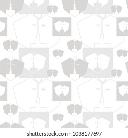 seamless vector texture, grey
