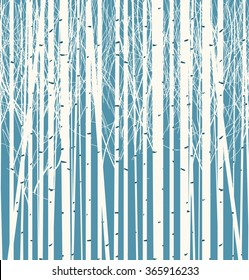 Seamless vector texture with a picture of the forest of trees against the blue sky