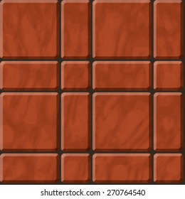 Seamless vector texture of reddish polished stone tiles