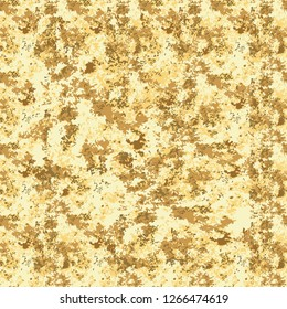Seamless vector texture. Yellow Grunge pattern background with attrition, cracks and ambrosia. Old style vintage design. Graphic illustration