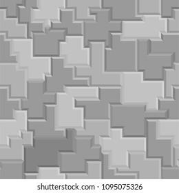 Seamless vector three-dimensional pattern.