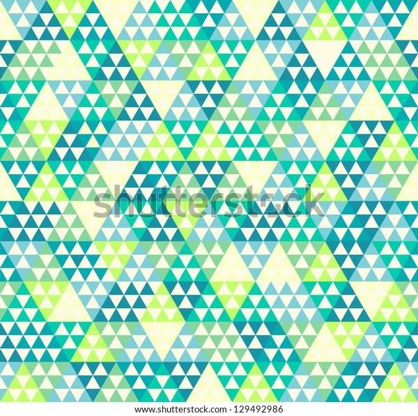 Seamless vector triangle geometric rhombus pattern background