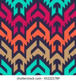 Seamless Vector Tribal Pattern for Textile Design. Stylish Chevron Modern Background