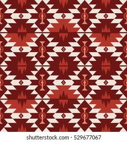 Seamless Vector Tribal Pattern for Textile Design. Stylish Mix of Rhombuses and Triangles